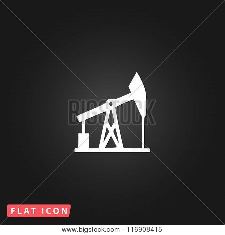 Oil derrick.  vector icon.