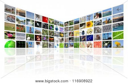 tv news multimedia background