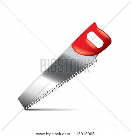 Saw Isolated On White Vector