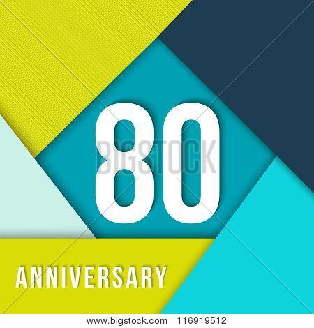 80 Year Anniversary Material Design Template