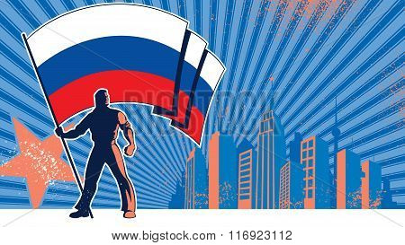 Flag Bearer Russia Background