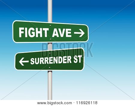 Fight or Surrender Choice (Vector)