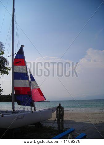 Sailboat At Beach