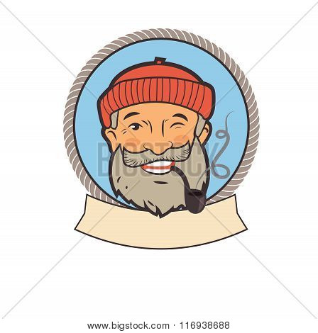 Old Sailor With Pipe. Portrait Character. Fishing Vector Labels. Old Sailor Tattoo. Old Sailor Picture. Old Sailor Hat. Old Sailor Jokes. Sailor Pipe Smoking. Old Sailor With Pipe Painting.
