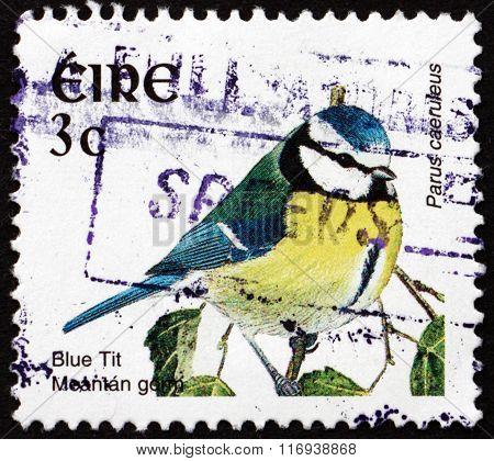 Postage Stamp Ireland 2002 Blue Tit, Bird