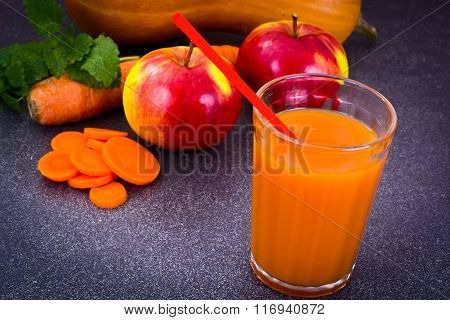 Sweet Tasty Vitamin Carrot, Pumpkin, Apple Juice