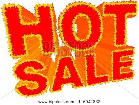 Hot Sale sign vector illustration isolated on white background