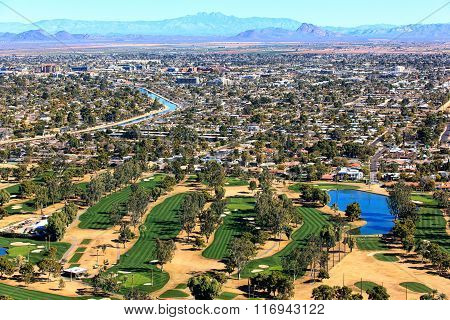 Golf And Scottsdale Skyline