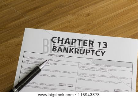 Government Documents for filing bankruptcy Chapter 13 poster