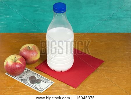 Milk, Apples And Money