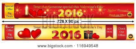 Valentine's Day web banners.