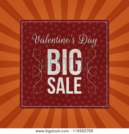 Valentines Day Big Sale dark red paper Sheet