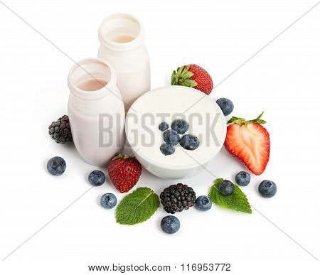 Yogurts And Fruits