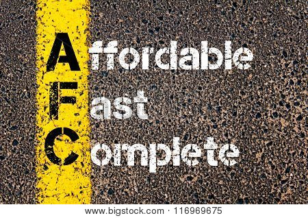Business Acronym Afc Affordable, Fast, Complete