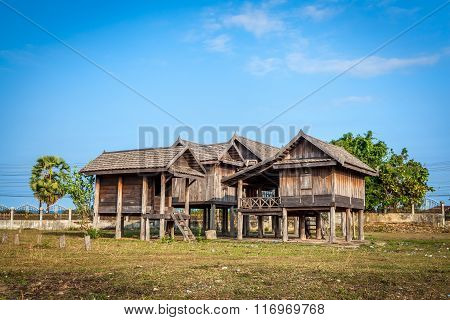 Old Traditional Laos house
