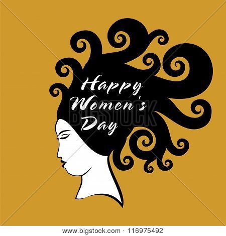 happy womens day greeting design