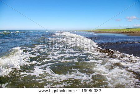 Seaside of the island Sakhalin.Tatar Strait