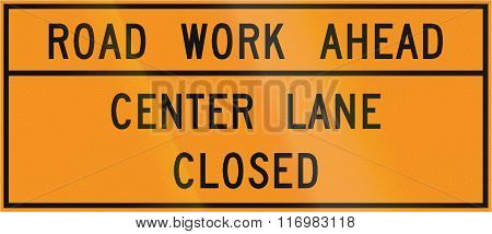 Road Sign Used In The Us State Of Virginia - Road Work Ahead