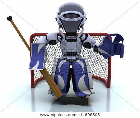 Robot Playing Icehockey