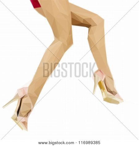 Sexy woman legs with high heel shoes