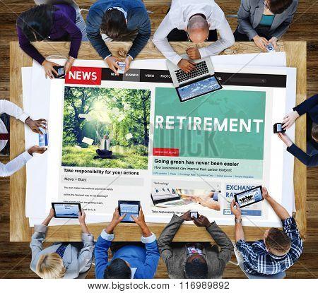 Retirement Plam Wealth Worth Security Management Concept poster