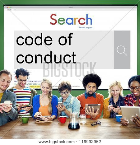 Code of Conduct Law Moral Code Concept