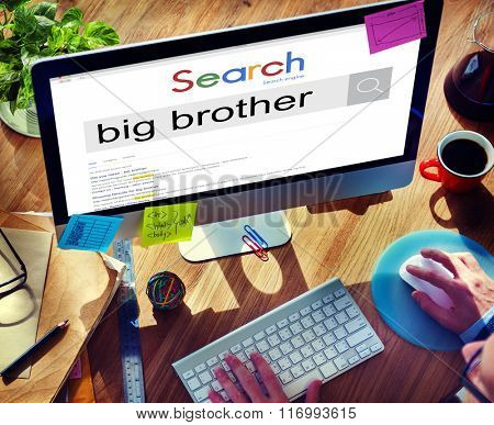Big Brother Government Oppressive Overseeing Control Concept