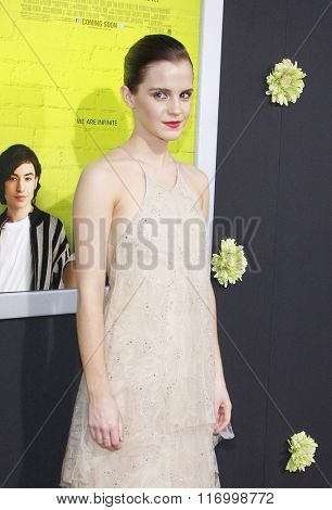 Emma Watson at the Los Angeles premiere of 'The Perks Of Being A Wallflower' held at the ArcLight Cinemas in Hollywood, USA on September 10, 2012.