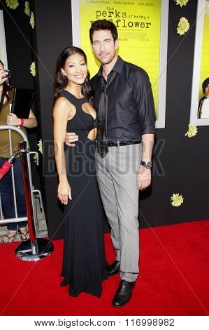 Shasi Wells and Dylan McDermott at the Los Angeles premiere of 'The Perks Of Being A Wallflower' held at the ArcLight Cinemas in Hollywood, USA on September 10, 2012.