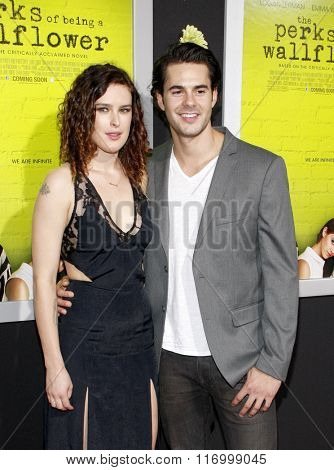 Rumer Willis and Jayson Blair at the Los Angeles premiere of 'The Perks Of Being A Wallflower' held at the ArcLight Cinemas in Hollywood, USA on September 10, 2012.
