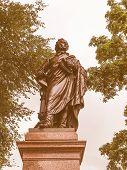 The Mendelssohn Denkmal monument to German musician Jakob Ludwig Felix Mendelssohn Bartholdy was designed by Werner Stein in 1892 in Leipzig Germany vintage poster
