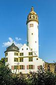famous medieval Hoechster Schlossturm in Frankfurt Hoechst poster