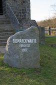 Bismarckwarte (Bismarck observation point) in Lindenfels in Odenwald (Hesse, Germany) poster