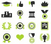 Trophy and prize symbol icon on white background vector illustration poster