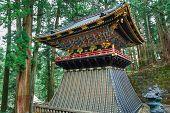 Drum Tower(Koro) at Taiyuinbyo - the Mausoleum of Shogun Tokugawa Iemitsu in Nikko, Japan poster