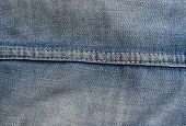 denim detail from vintage blue jeans. horizontal seam allowing good space for type. poster