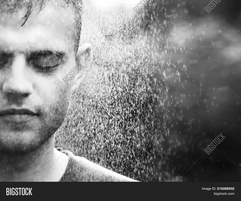 Man Crying Rain Image & Photo (Free Trial) | Bigstock