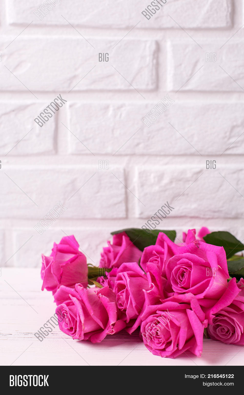 Bunch Pink Roses Image Photo Free Trial Bigstock