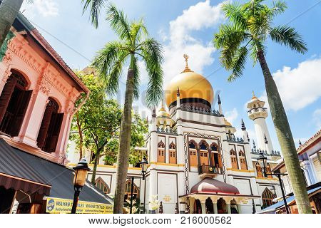 Amazing View Of Masjid Sultan (sultan Mosque) At Singapore