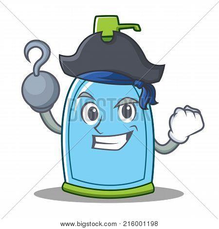 Pirate liquid soap character cartoon vector illustration