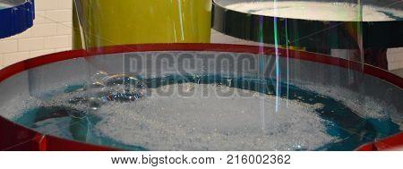 horizontal image of big bubble maker tub