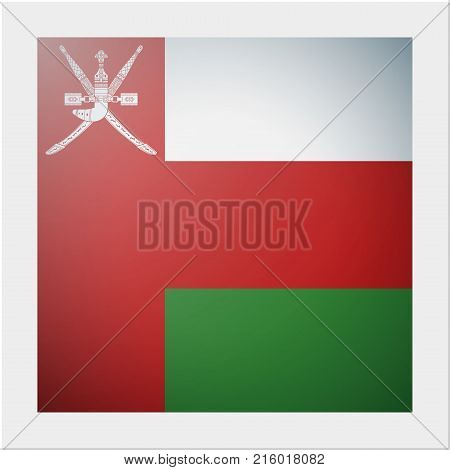 Asian country flag collection with photo of Oman flag , vector , illustration