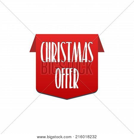 Christmas offer special offer best price Label. Vector illustration