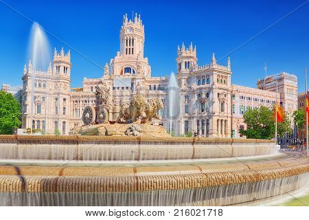 Fountain Of The Goddess Cibeles And Cibeles Center-culture And Citizenship Centre. Madrid. Spain.