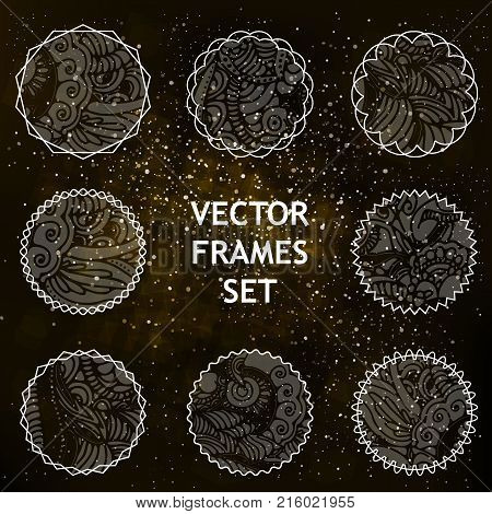 vector space frames with pattern for lables and placard