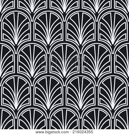 Vintage Seamless Art Deco Pattern. Template For Design. Vector Illustration