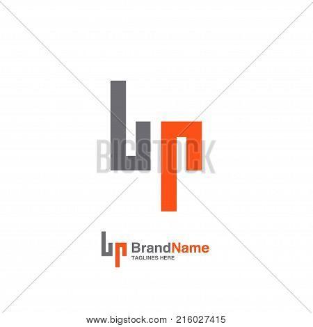 BP letter logo design vector illustration template, B letter logo vector, letter B and P logo vector, creative Letter BP letter logo