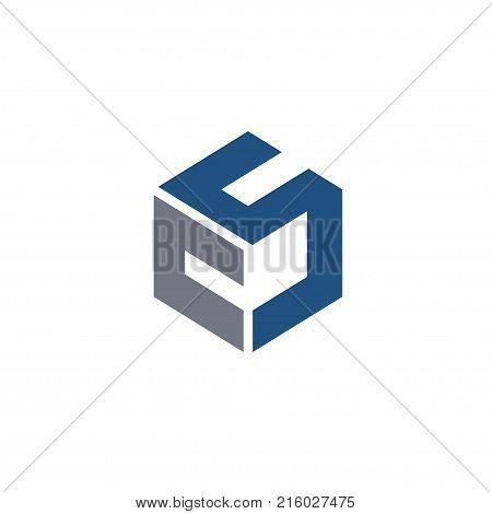 CS letter logo design vector illustration template, C letter logo vector, letter C and S logo vector, creative Letter CS letter logo