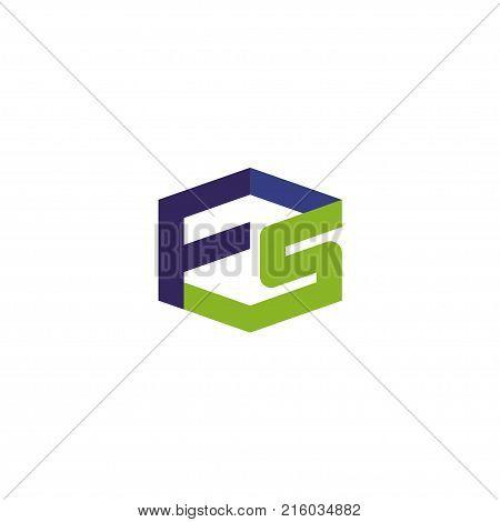 FS letter logo design vector illustration template,  letter FS logo vector, letter F and S logo vector, creative Letter FS letter logo