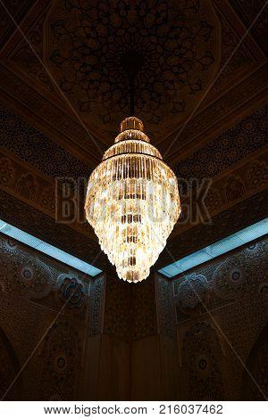 Kuwait Grand Mosque interior 07 January 2015 Kuwait-city Kuwait